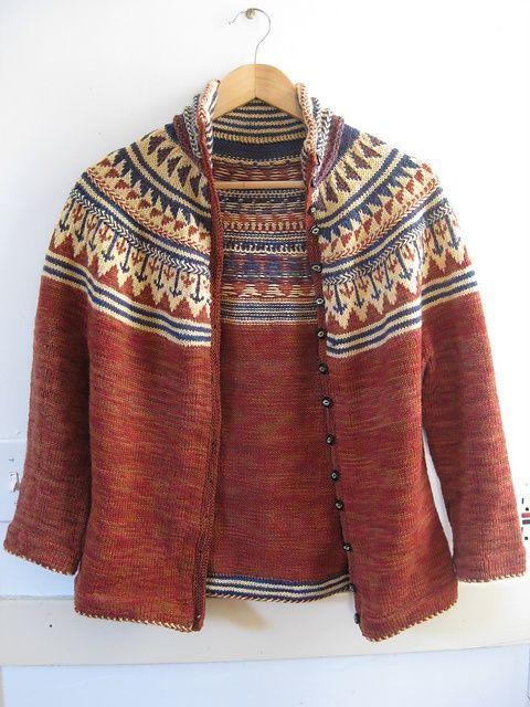 sanguine gryphon. organje cardigan beautiful stranded colorwork.