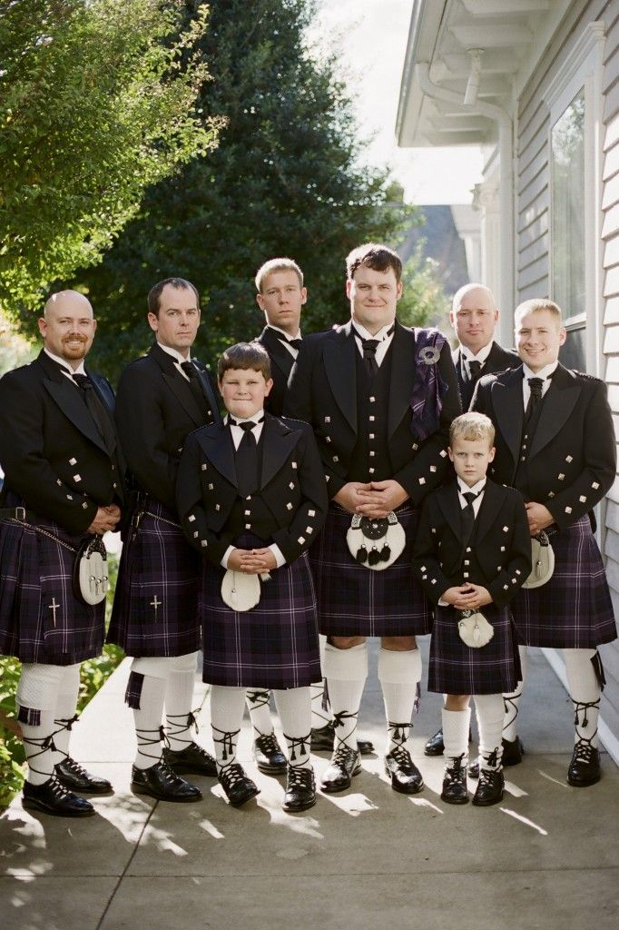 Garden Wedding Venue | Groom and Groomsmen Kilts - Photo: JHenderson Studios