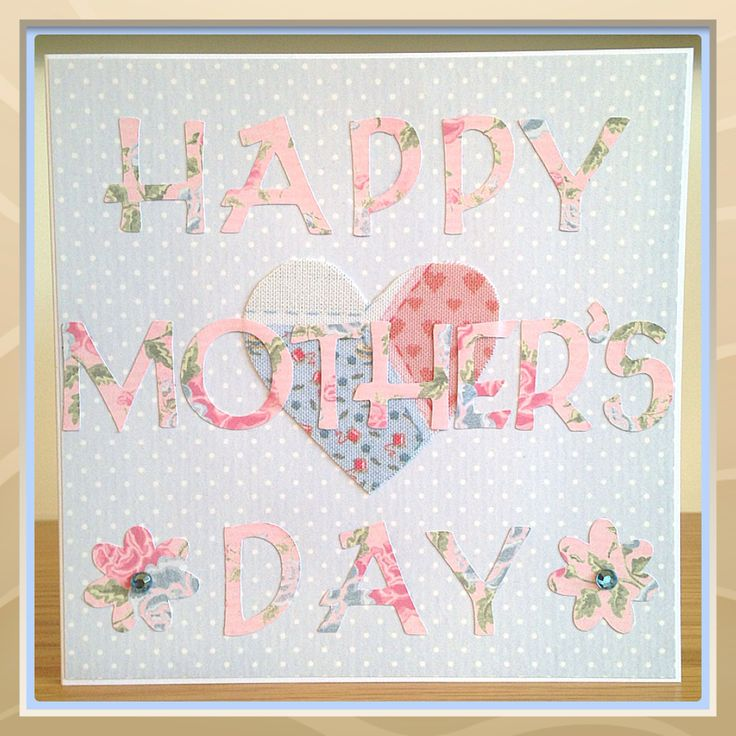 Handmade Mother's Day Card - Pretty Florals - The Supermums Craft Fair
