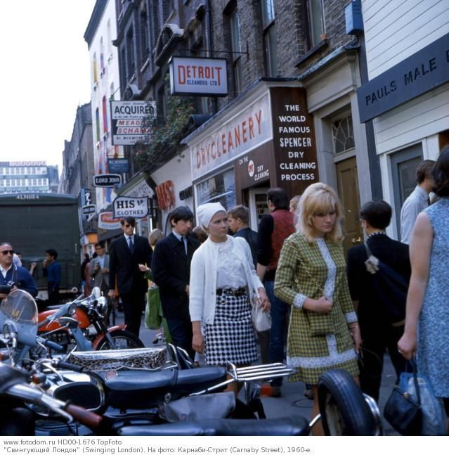 """Swinging London"" (Swinging London).  Fotografía: Carnaby Street (Carnaby Street), 1960."