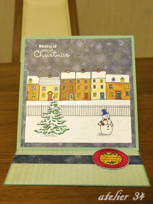 Christmas card 2012  with Hobby Art stamps