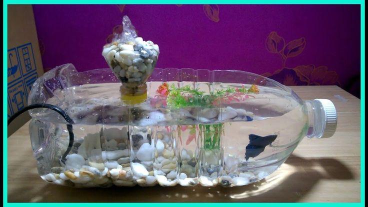 DIY AQUARIUM FISH TOWER OF PLASTIC BOTTLE ART | Har ...