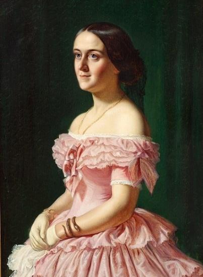 Wilhelm Marstrand (1810-1873) - Portrait of Jeanina Baroness Stampe (1833-1867)