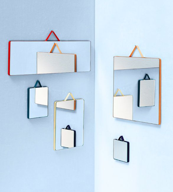 RUBAN : amazing mirrors by HAY.  #mirror #hay #design #interior #interieur…