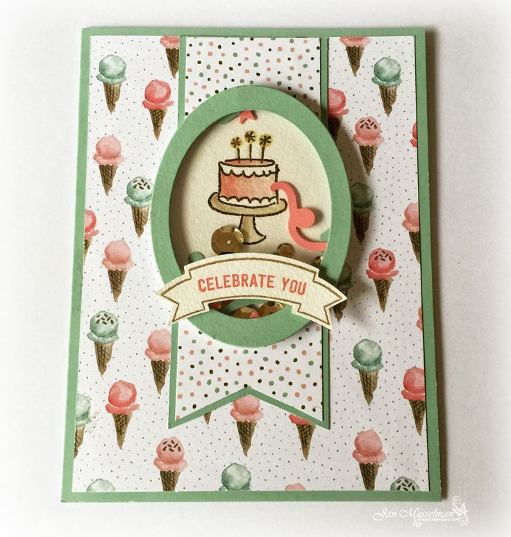 Stampin' Up - Pals Paper Arts Sketch #300 - Shaker Cards - Endless Birthdays - Thoughtful Banners - Birthday Bouquet