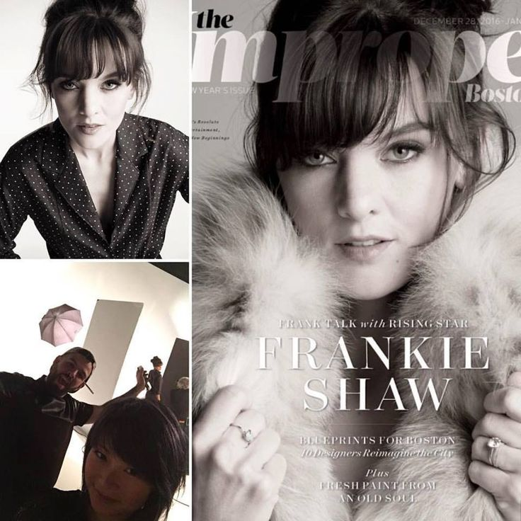 Check out the newest issue of Improper Bostonian Magazine with Frankie Shaw on the cover  Hair by Michelle Lee, assisted by Artistic Designer Bryant Anthony.