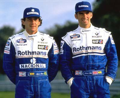 Aryton Senna and Damon Hill