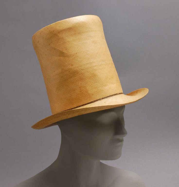 Top Hat in a lighter shade, most likely worn during the day. Top Hat, c. 1835, The Philadelphia Museum of Art