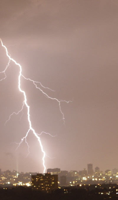Johannesburg electrical storm.  Pushpa Padayichie