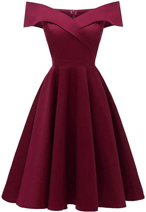 Viloree 50s Rockabilly Damen Kleid Baumwolle Schulterfrei