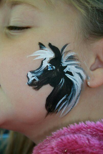 Dog Face Paint Cheek