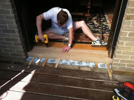 Replacing the door sill threshold i used her tutorial for - How to replace exterior door sill ...