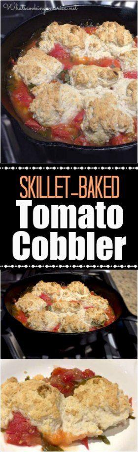Skillet-Baked Tomato Cobbler