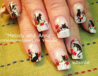 Nail-art by Robin Moses kitties!!!   http://www.youtube.com/watch?v=vMaaP9H1w54