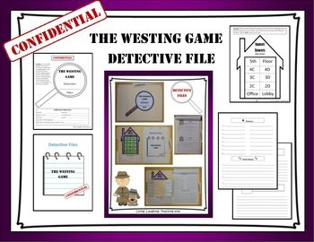 The Westing Game Detective File is intended to engage the learner while reading The Westing Game which centers around Sam Westings sixteen heirs after they are challenged by him to unravel the secret behind his death.  By using the detective files while reading The Westing Game, students will be able to be an active learner and take notes that will help them organize their thoughts.