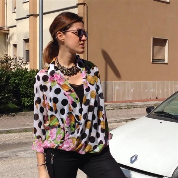 polka in shirt by  Martina Perruzza
