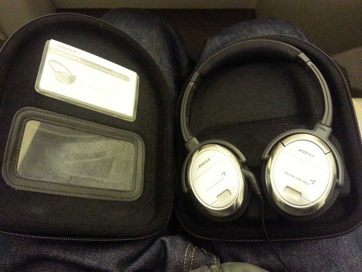 Bose Noise-Cancelling Headphones in First Suite. TproChina: Asiana Airlines New First Class ICN - ORD