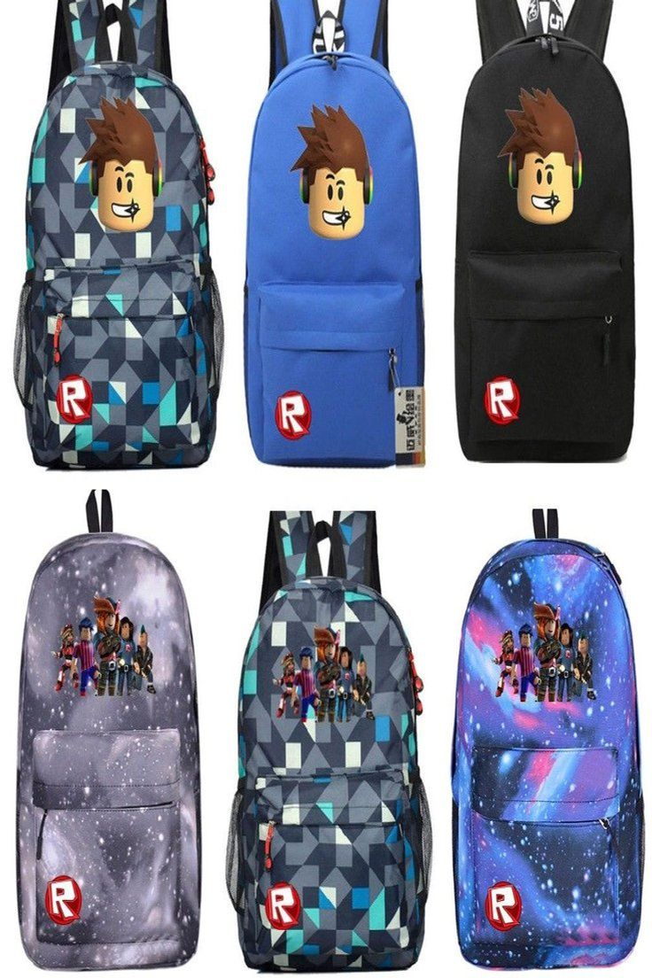 Roblox Backpack Schoolbag Kids Students Bookbag Daypack Handback
