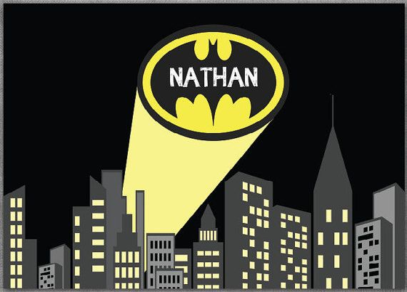 Batman Birthday Party Batman Backdrop Batman by Partypapersfactory