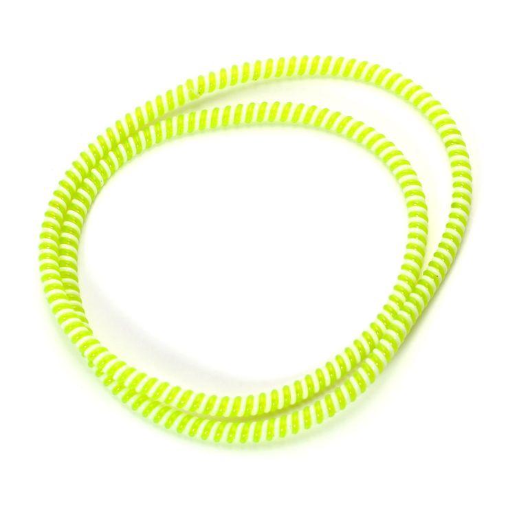 Spiral Cord Protector - 2-Tone White / Green