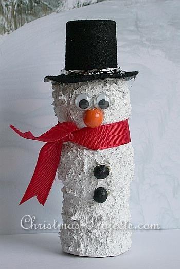 Cute wine cork snowman snowman christmas crafts for Cork balls for crafts