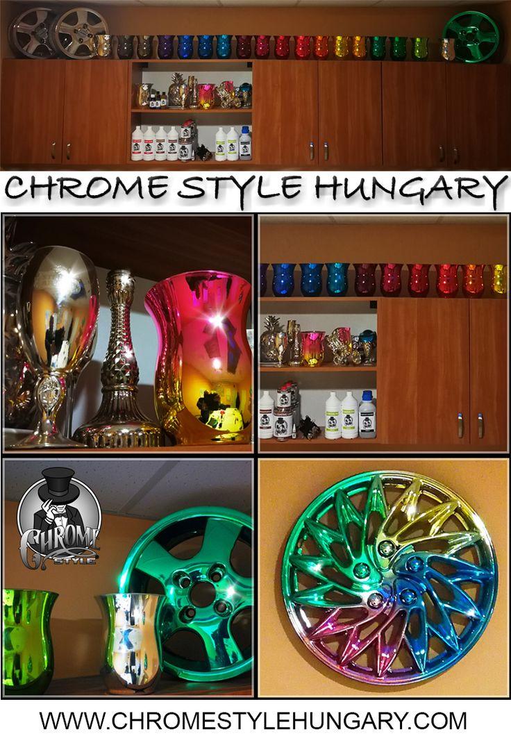 """A hagyományos, úgynevezett """"króm festékekkel"""" szemben, amelyek valóban hasonlítanak egy ezüst festékre, ez a termék olyan tükrös felületet hoz létre, amely gyakorlatilag megkülönböztethetetlen a valódi krómtól.  http://chromestylehungary.com/"""