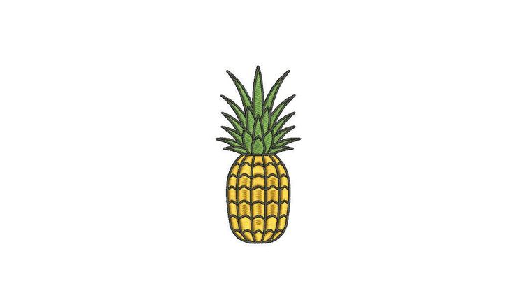 Machine Embroidery Tropical Pineapple Embroidery File design 4x4 hoop by Oopsidaisi on Etsy https://www.etsy.com/au/listing/554337595/machine-embroidery-tropical-pineapple