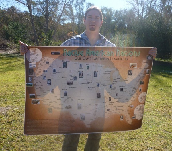 First Indigenous Map Of Its Kind US Map Displays Our Own Names - Create a map of the us with locations marked