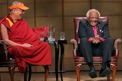 Desmond with the Dalai Lama. The world would be a better place if we all cared as they do.