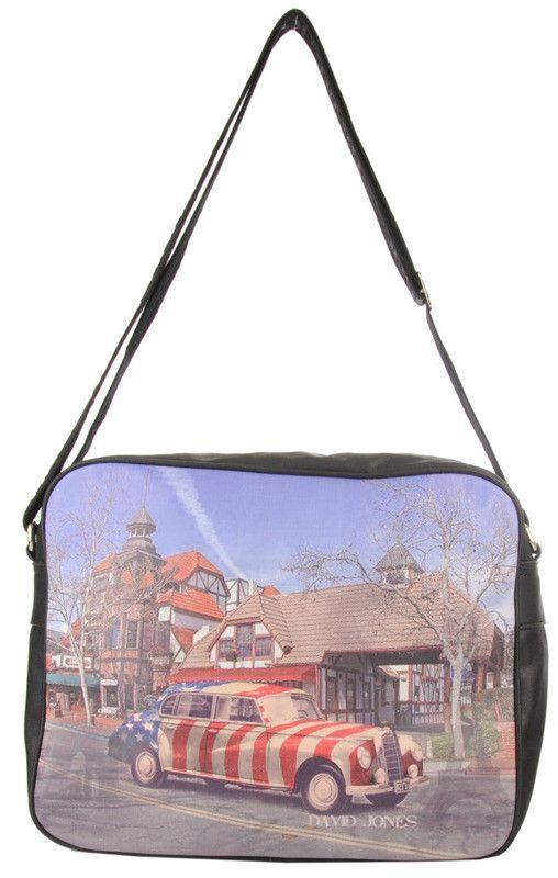 David Jones - torba na ramię, old school | Torebki Wielokolorowe