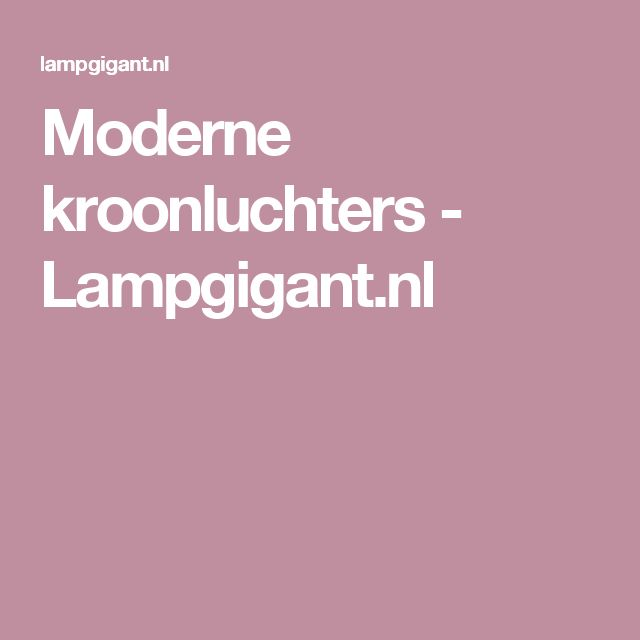Moderne kroonluchters - Lampgigant.nl