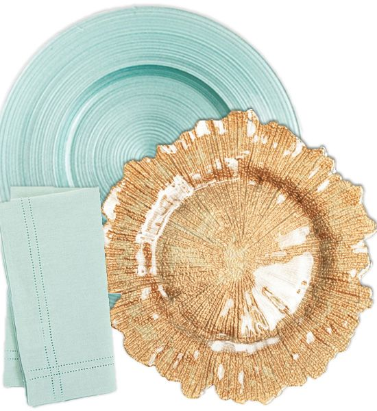 Mint and Gold Wedding | Beach Glam Decor and Details - Aqua Mint and Luxe Gold
