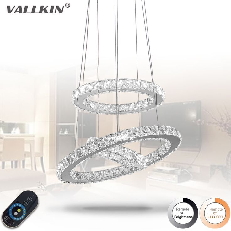 Dimmable Modern LED Diamond Ring Pendant Light Chrome Mirror Finish Stainless Steel Room Hanging Lamp LED Lustres VALLKIN