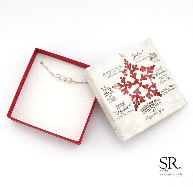 Schmuck - Weihnachtsgeschenk Mama Armband Herz Perle zart Herzchen Herzchen Perlenarmband Geschenk Freundin Weihnachten Idee - ein Designerstück von sweetrosy bei DaWanda