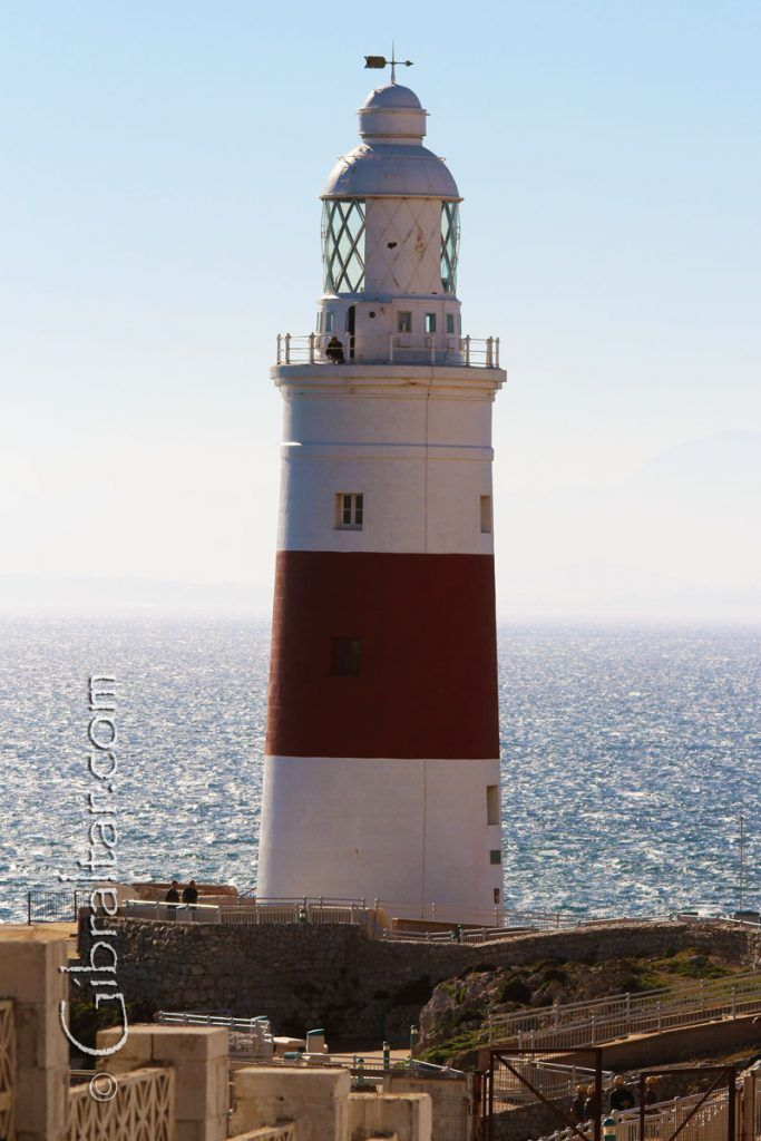 A southern look at the Gibraltar lighthouse along with Africa very slightly visible in the far distance. on Gibraltar Travel and Business Information Guide  http://gibraltarholiday.com/social-gallery/gibraltar-lighthouse