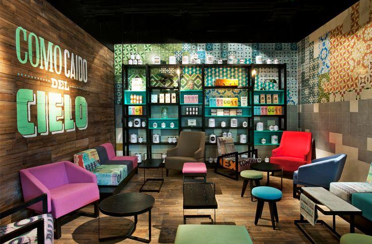 Cielito Querido coffee franchise   interior design by Hector Esrawe