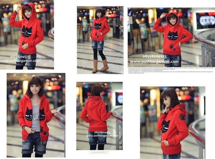 Black Paws Jacket Hoodie - IDR 140.000 | outfitorganizer.com 08558204523
