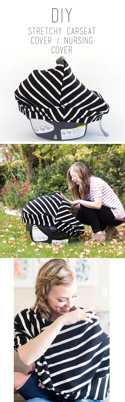 do it yourself divas: DIY Stretchy Car Seat Cover