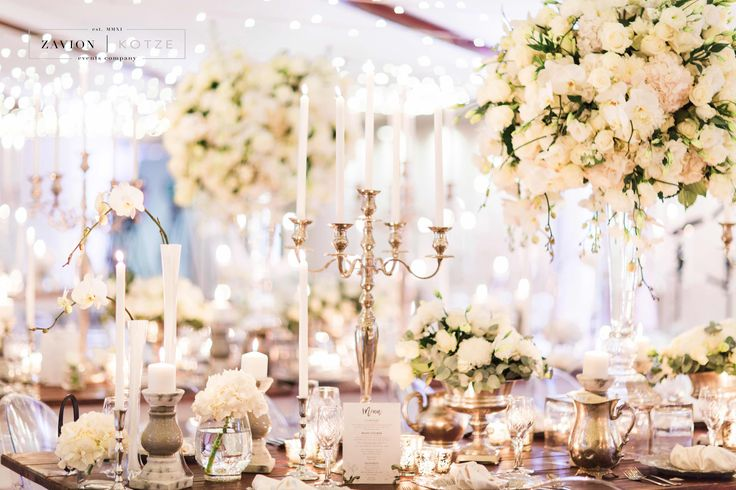 Silver, White, Green wedding with raw wooden tables. Silver candelabras, Antique silver decor, elegant wedding, classic elegance, luxury wedding. Luxury wedding flowers. Photographer: Genevieve Fundaro