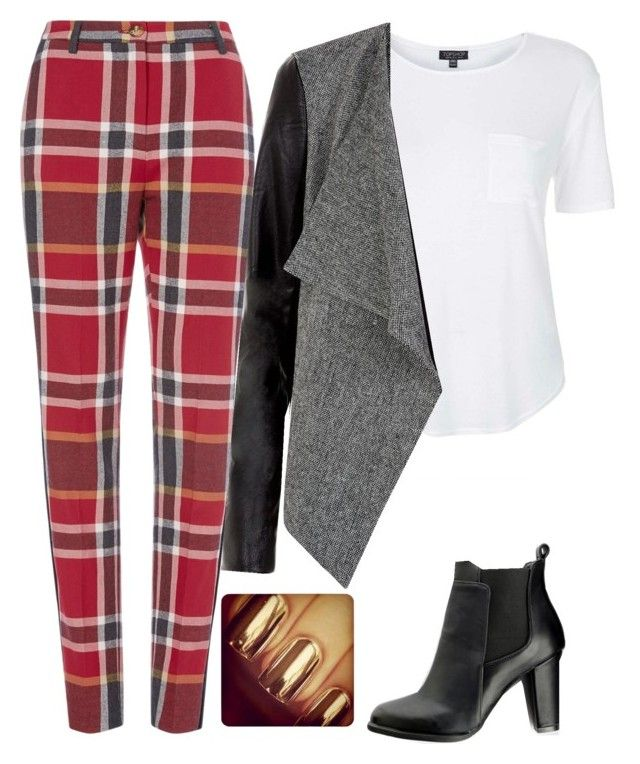 """""""Outfit #5"""" by amazin-maze ❤ liked on Polyvore featuring Topshop, MANGO, casual, red, Heels, outfits and fallstyle"""
