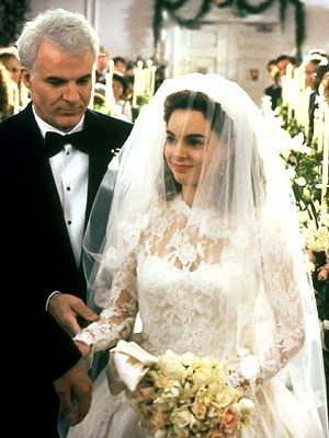 Kimberly Williams-Paisley in father of the Bride 1991 (My fav movie of life! It is clear why I must have lace sleeves on my future wedding dress)