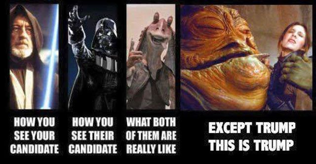 Funny Star Wars Memes With a Political Twist: Donald Trump as Jabba the Hut