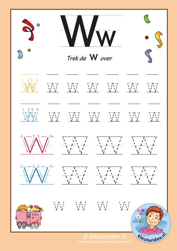 Pakket Over De Letter W Blad 7 Trek De Letter W Over Letters Aanbieden Alphabet Tracing Worksheets Tracing Worksheets Preschool Kindergarten Alphabet Letters Tracing letter w worksheets for