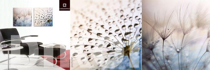 """DECO GLASS  """"AFTER THE RAIN  &  TEAR DROPS"""" 50x50cm.  € 47,90 p. st."""