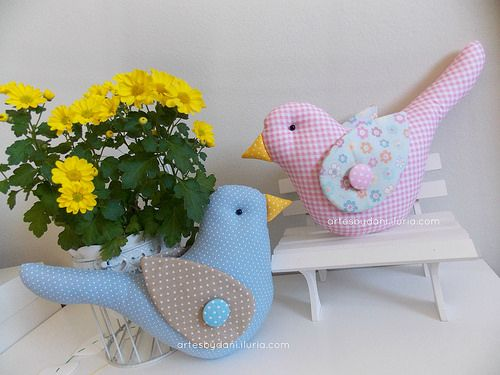 Almofadinhas passarinhos