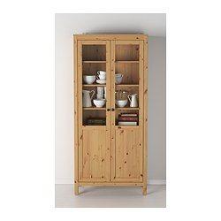 HEMNES Armario puerta panel/vidrio - marrón claro - IKEA