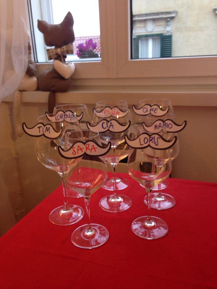 Bicchieri personalizzati Mustache party