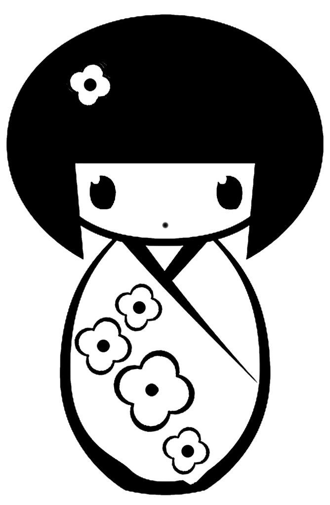 Kokeshi Doll Decal