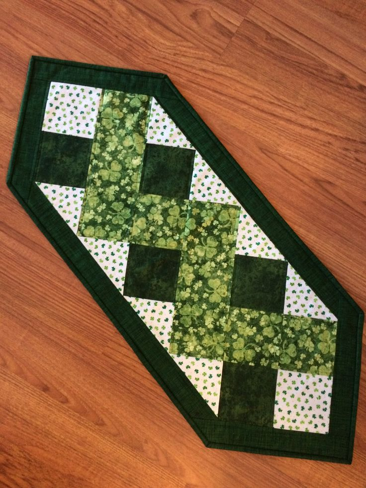 St Patrick S Day Table Runner 2015 My Quilting