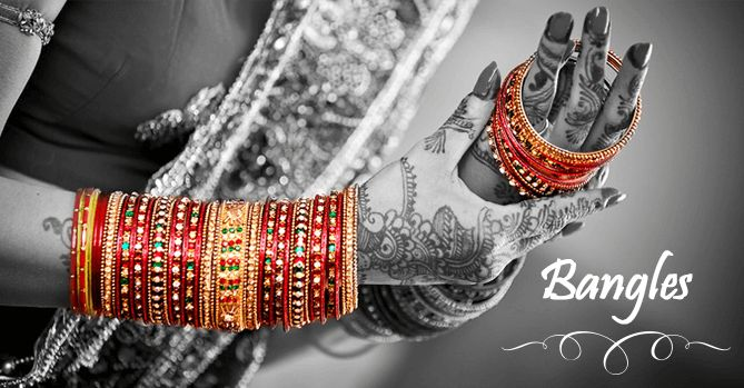 Bangles are established decorations going with the marriage clothing.